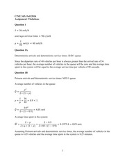 Assignment 5 Solutions - Fall 2014