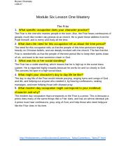 Module Six Lesson One Mastery (1).docx