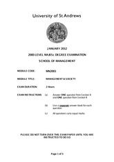 January 2012 Exam Script