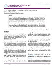 effect-of-leadership-style-on-employee-performance-2223-5833-1000146