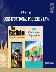 CONSTITUTIONAL PROPERTY LAW