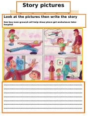 Writing story pictures 15 doc - Story pictures Look at the pictures