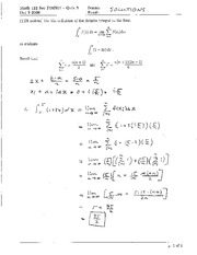 Math 122 Quiz 3 Solutions