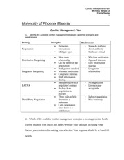 mgt 311 conflict management plan 568 words - 3 pages bonus paper on conflict management bob smith course   665 words - 3 pages university of phoenix material conflict management plan 1   team building and conflict management mgt/311 october 28, 2013 george.