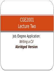 Lecture 2 Writing a CV  (abridged version).pptx