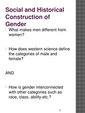 WGSS 1124 - Social and Historical Construction of  Gender(1)