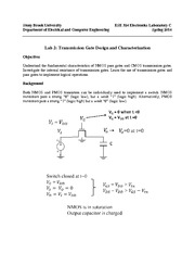Lab 2 Pass gate and transmission gate analysis