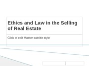Ethics+and+Law+in+Marketing+of+Real+Estate