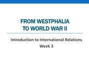 PSC161 Week 3 - From Westphalia to WWII