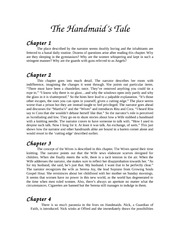 The Handmaid's Tale Chapter 1-5 Notes