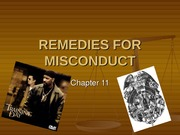 Remedies for Misconduct Lecture Slides