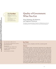 18.- Quality of government what you get pp. 135-161