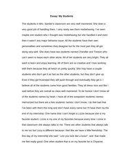My good teacher essay
