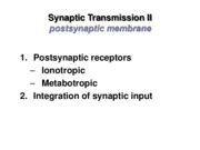 LECTURE 9 -Synaptic Transmission II-2015