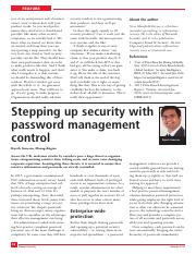 Stepping-up-security-with-password-management-control_2016_Network-Security