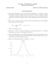 09 Normal distribution