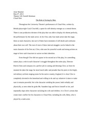 Theater 120 Cloud 9 Essay