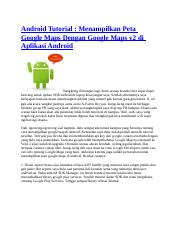 Android Tutorial-Google Map.docx