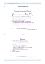 Lecture 9- Nuclear Energy and General Relativity