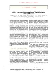 1_Seth Glickman et al, Ethical and Scientific Implications of the Globalization of Clinical Research