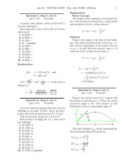 Physics Test1 Solutions