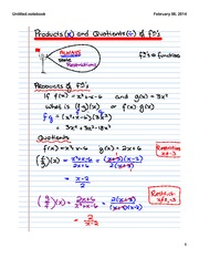 Products and Quotients of Functions