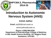 1-ANS-Introduction and Cholinergic System 2014-15