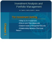 Chapter 1 - overview of investment
