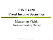 FINE 412 Chapter 3 (Measuring Yields) Fall 2014