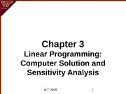 Ch 3 Computer Solution Sensitivity Analysis