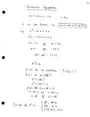 ECON 525 Quadratic Equations Notes