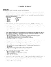 Practice Questions Chapter 3,4