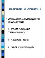 OWNERS EQUITY.PPT
