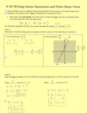 6-5b writing linear equations in point-slope