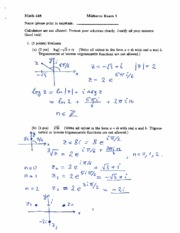 MATH 448 Exam 1 with Answers
