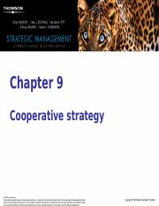 Chapt 9 Cooperative Strategy.ppt