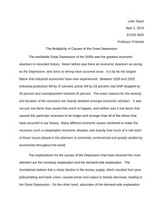 Free essay on Causes Of The Great Depression Essay - Like