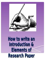 (1)Introduction - format & elements of RP