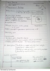 Notes on Physiological Ecology