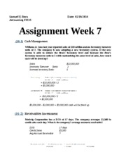 Assignment week 7