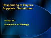 Strategic Responses to Supplier power