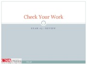 checkyourwork_Exam3_Review