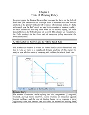 chapter 9 - Tools of monetary policy