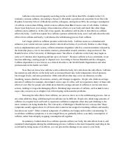 informative speech caffeine