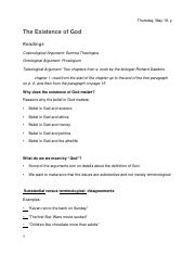 PHI 107 The Existence of God 2.27 doc