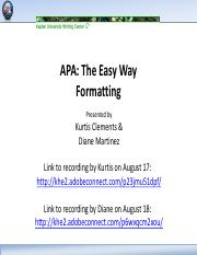 APA The Easy Way Formatting