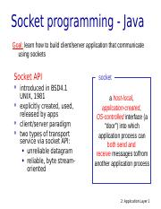 Java_socket_programming ppt - Socket programming Java Goal