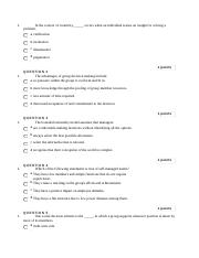 organizational behavior 4250 quiz three.docx