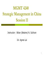 Session 11 - In non-Chinese market student
