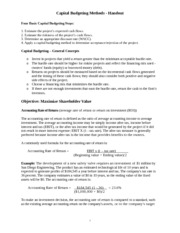 Capital Budgeting Methods - Handout.doc